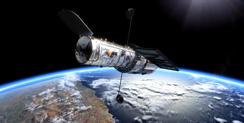 Rymdteleskopet Hubble väger ungefär lika mycket som 11 isbjörnar.