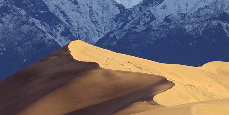 I vissa områden finns nämligen sanddynor som påminner om öknar som de länder med varmare klimaten har.