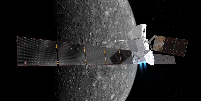 Forskare tror att det finns is inuti Merkurius kratrar. Planetens nord- och sydpoler är kalla och skuggiga, vilket kan göra det möjligt för dem att behålla vattenbaserad is.
