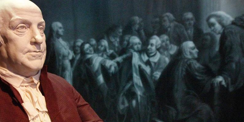 Benjamin Franklin organiserade och var den första sekreteraren för American Philosophical Society. Han valdes senare till ordförande under år 1769.