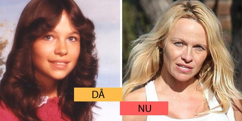 """Pamela Anderson är känd för miljontals människor som """"det blonda bombnedslaget"""" från TV-program som Baywatch och Home Improvement, men hon är faktiskt en naturlig brunett egentligen!"""