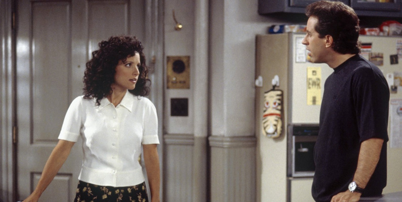Julia Louis-Dreyfus, som spelar Elaine Benes, medverkade inte i seriens pilotavsnitt. Faktum är att hon inte var medveten om att avsnittet ens existerade fram tills det släpptes som en del av DVD-boxen år 2004.