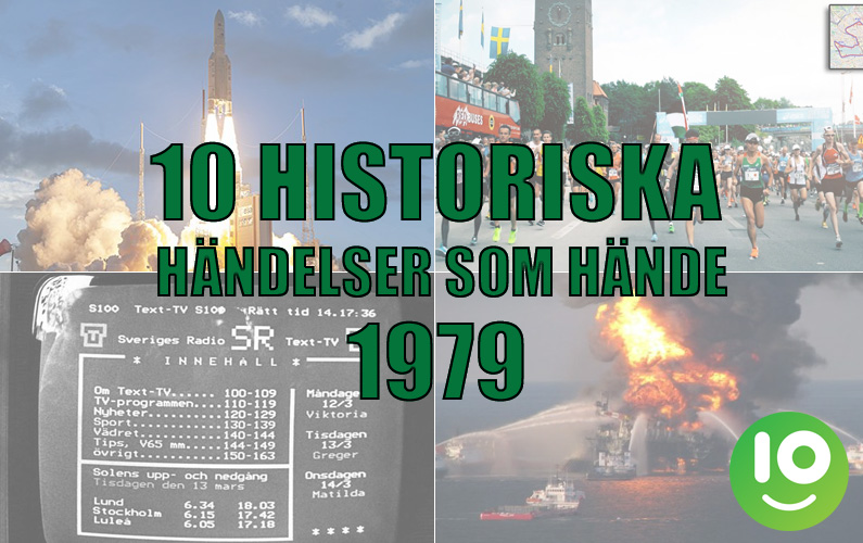 10 historiska händelser som hände 1979